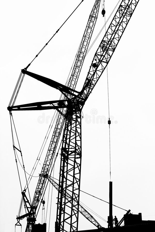 Crane Silhouette Royalty Free Stock Photography