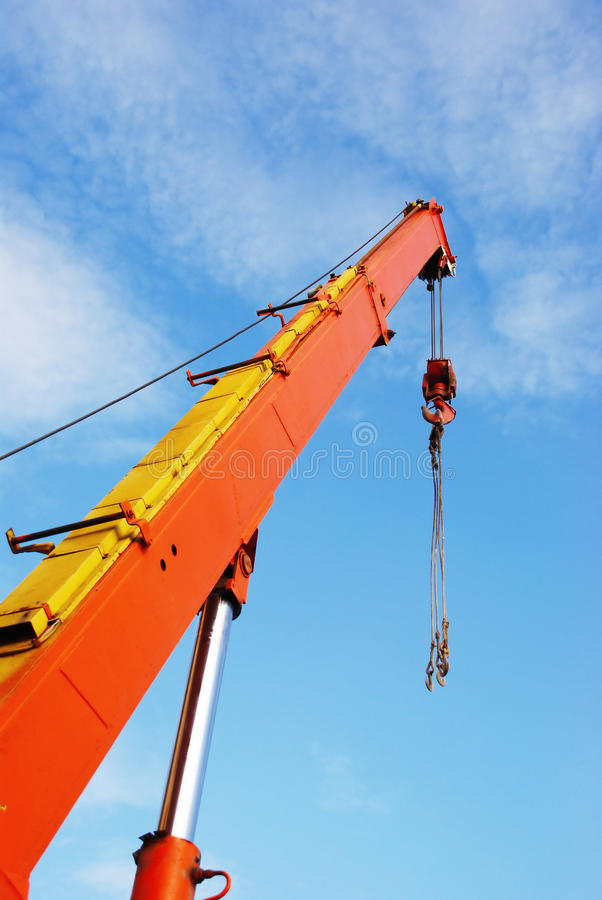 Crane to the sky royalty free stock images