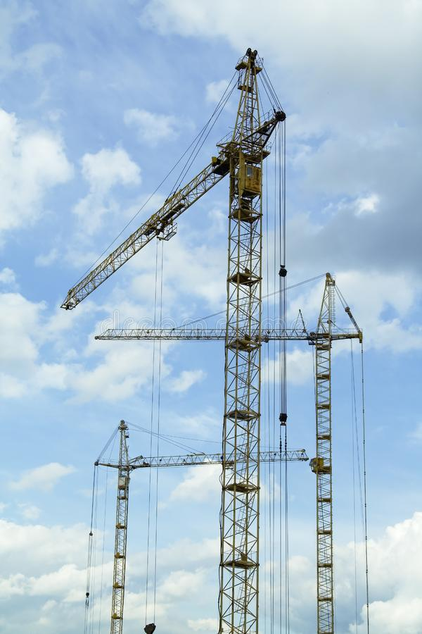 Crane tower stock images