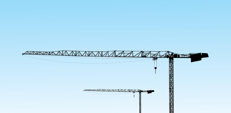 Crane tower royalty free stock photo