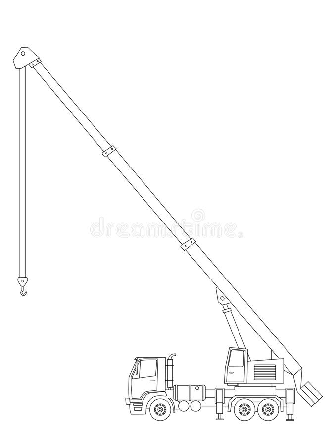 Download Crane truck stock vector. Illustration of machinery, load - 23090093