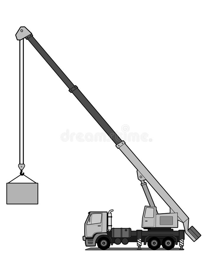 Download Crane truck stock vector. Image of engine, large, mobile - 26031774