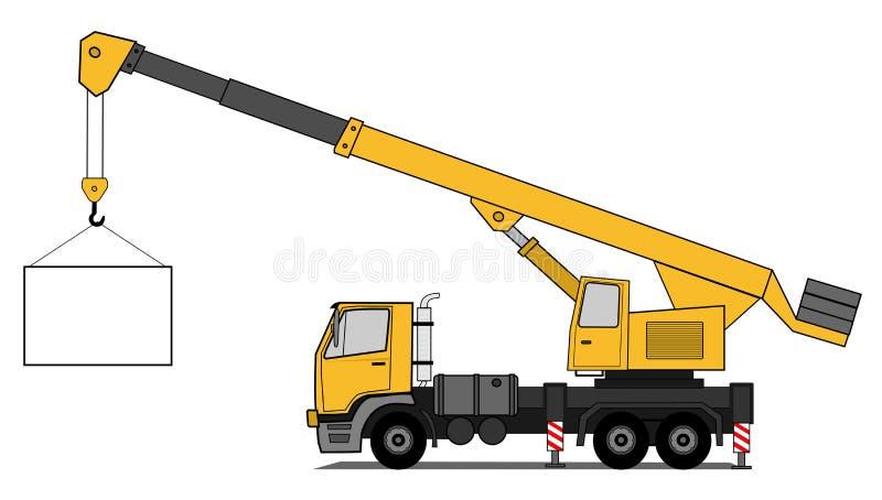 Download Crane truck stock vector. Image of motor, lifter, business - 26090612