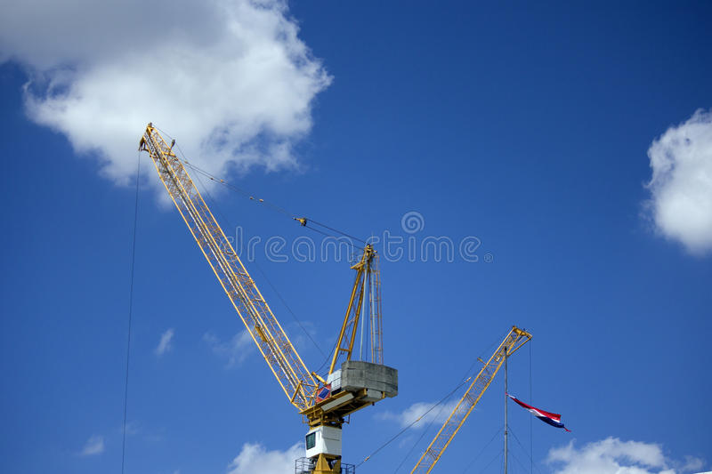 Crane works for Thailand building royalty free stock photo