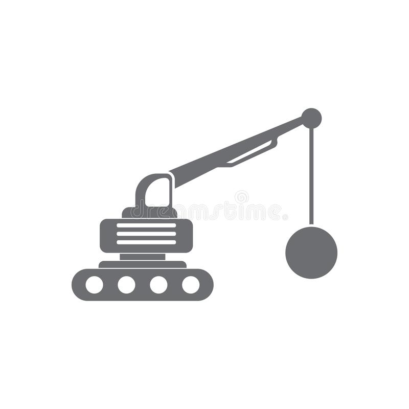 Crane With Wrecking Ball icon. Simple element illustration. Crane With Wrecking Ball symbol design from Transport collection set. Can be used for web and stock illustration