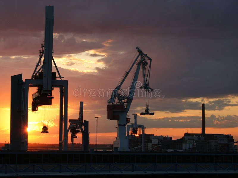 Download Cranes stock photo. Image of blue, modern, freight, building - 163308