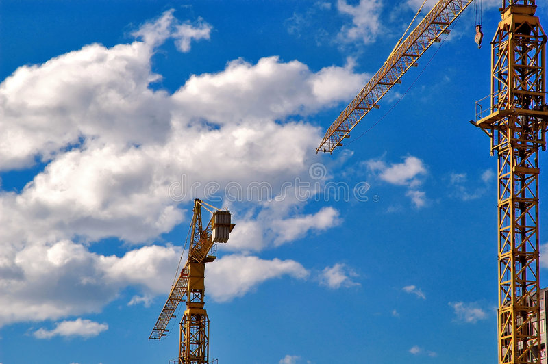 Download Cranes stock photo. Image of concrete, entry, post, clear - 1915338