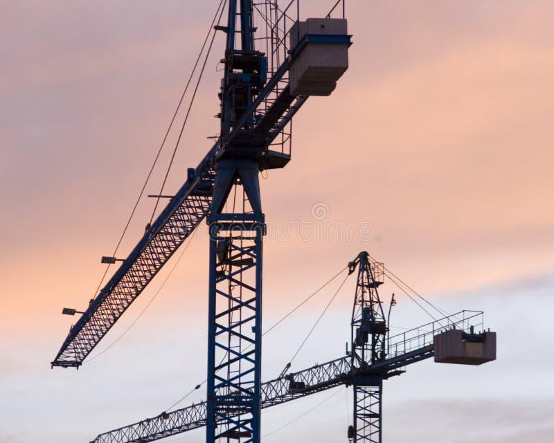 Download Cranes_2 fotografia stock. Immagine di industriale, cielo - 7316842