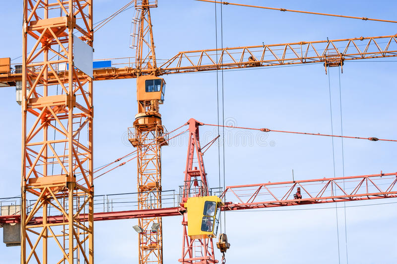 Download Cranes stock photo. Image of three, clean, high, vibrant - 28869370
