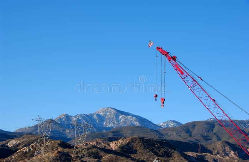 Download Cranes stock image. Image of loading, flag, cranes, pull - 3924703