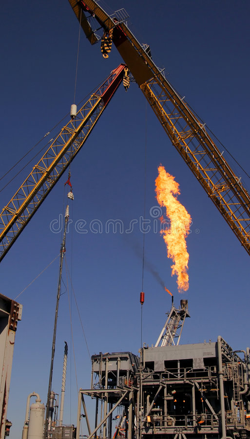 Free Cranes And Flare Stock Photo - 1565050