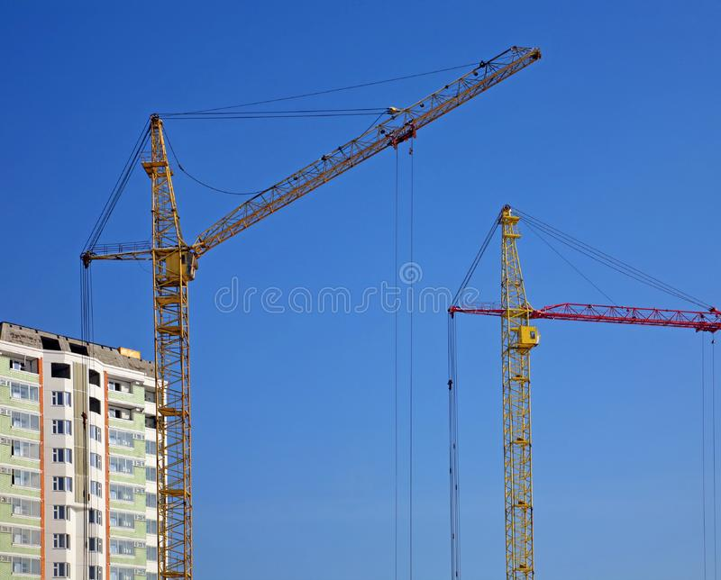 Download Cranes And Building Construction Stock Image - Image: 8236039