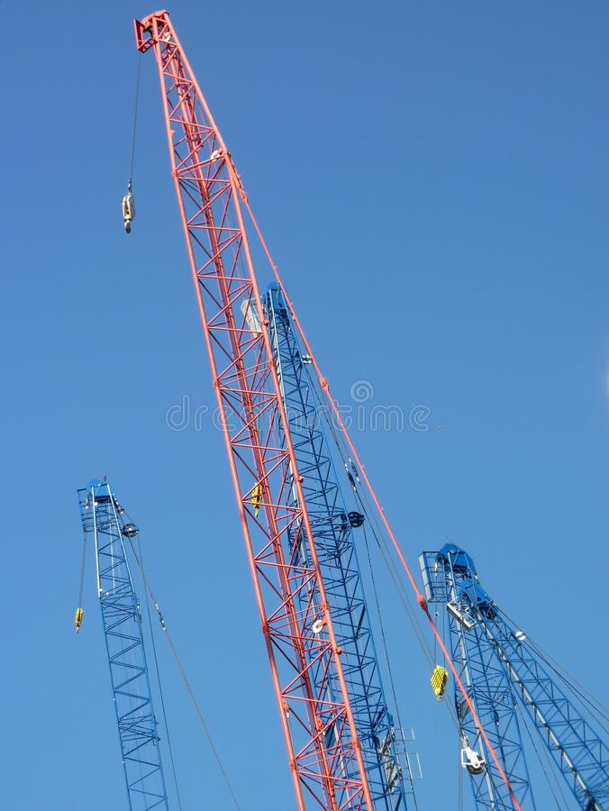 Download Cranes with derricks stock photo. Image of transport - 21602878