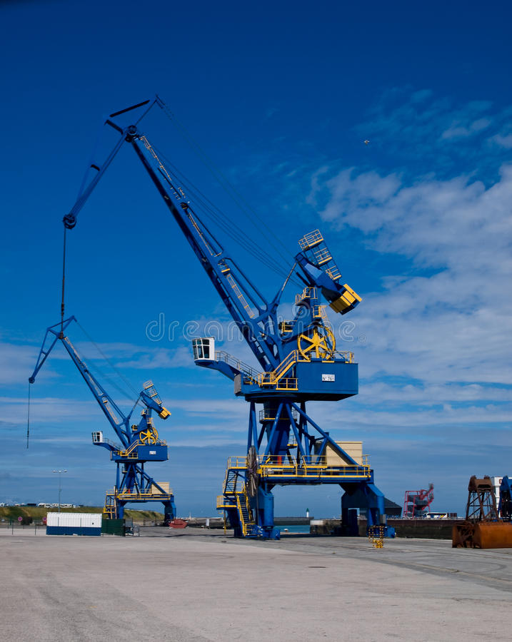 Cranes on Docks royalty free stock photo