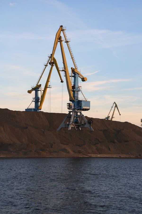 Download Cranes in the port. stock image. Image of machine, bulk - 5420221