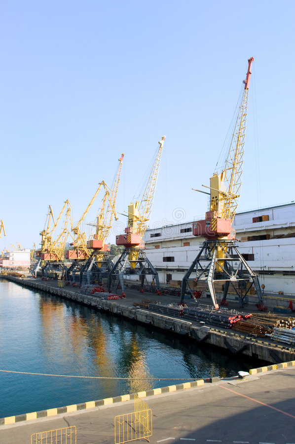 Download Cranes in the port stock photo. Image of machine, urban - 6629526