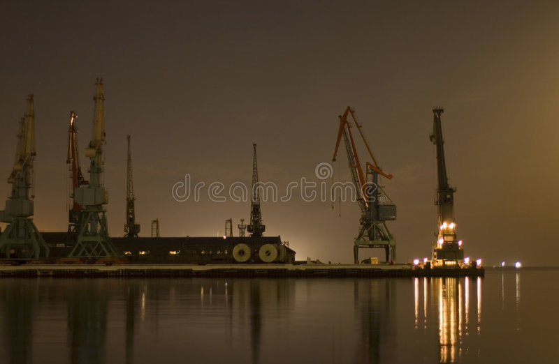 Download Cranes in the port in Baku stock photo. Image of carry - 1556414