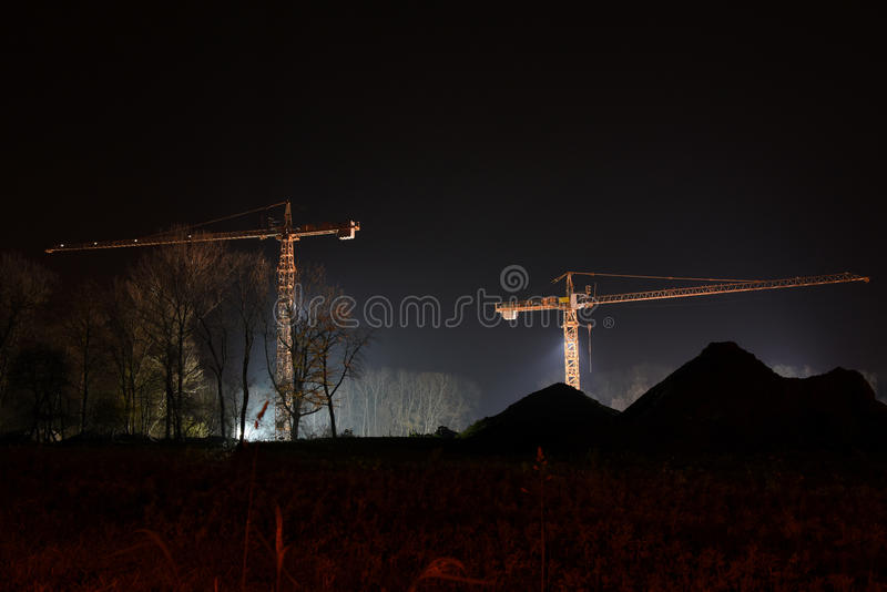 Cranes royalty free stock images
