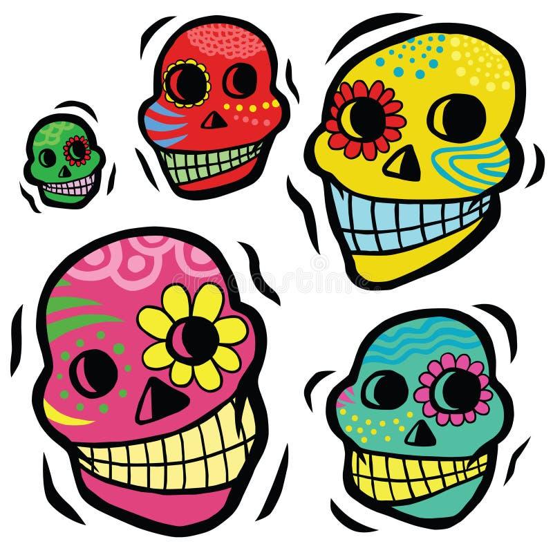 Crani festivi messicani illustrazione vettoriale