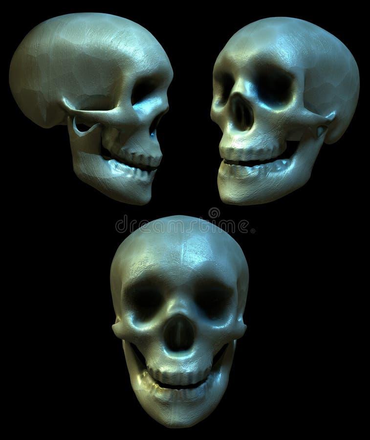 cranial gyckel stock illustrationer