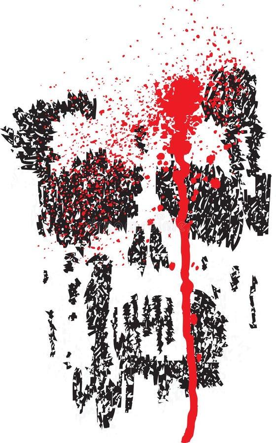 Cranio afflitto dello scarabocchio royalty illustrazione gratis