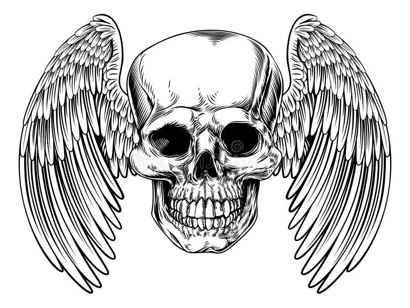 Cranio alato Morte royalty illustrazione gratis