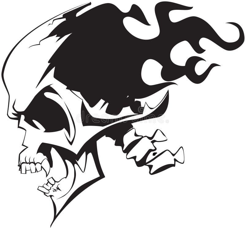 Cranio ardente illustrazione vettoriale