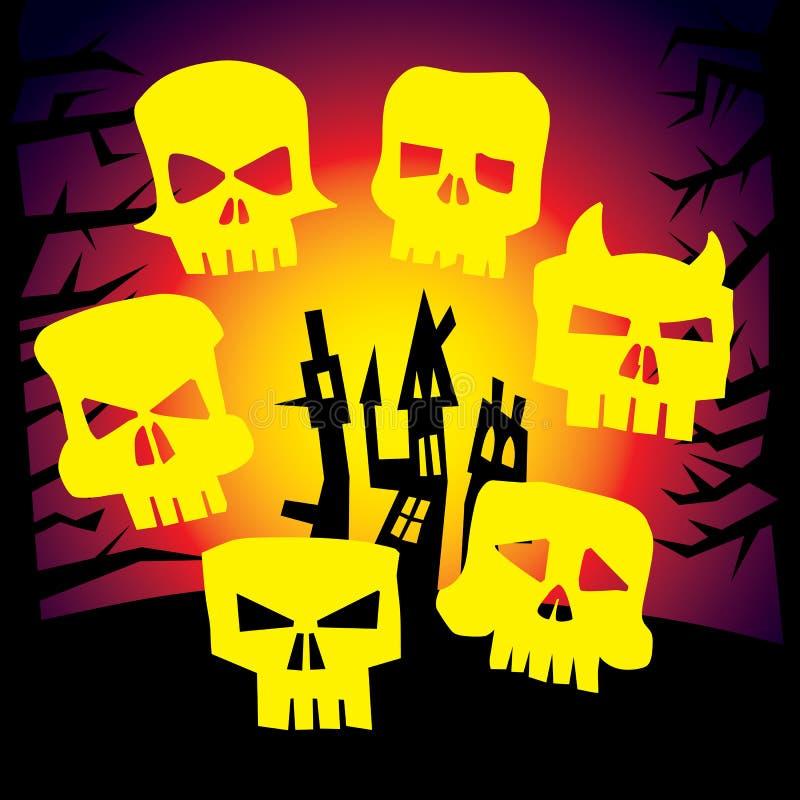 Cranio arrabbiato del mostro royalty illustrazione gratis