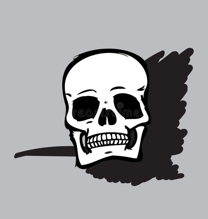 Cranio in bianco e nero royalty illustrazione gratis