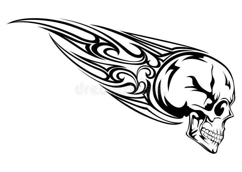 Cranio con tribale illustrazione di stock