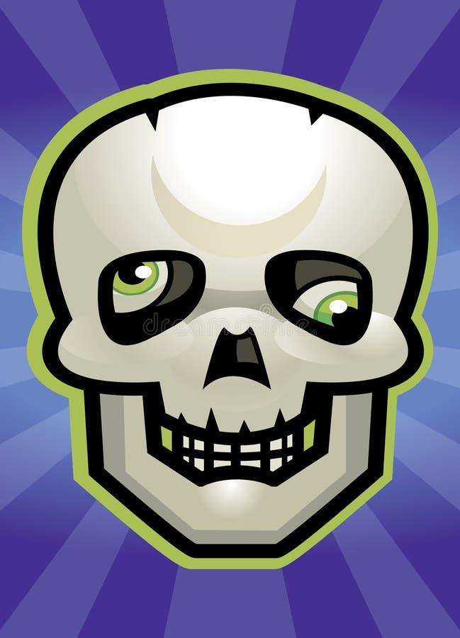 Cranio del fumetto illustrazione di stock