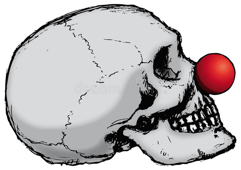 Cranio del pagliaccio (vettore) illustrazione di stock