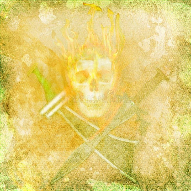 Cranio del pirata fotografie stock libere da diritti