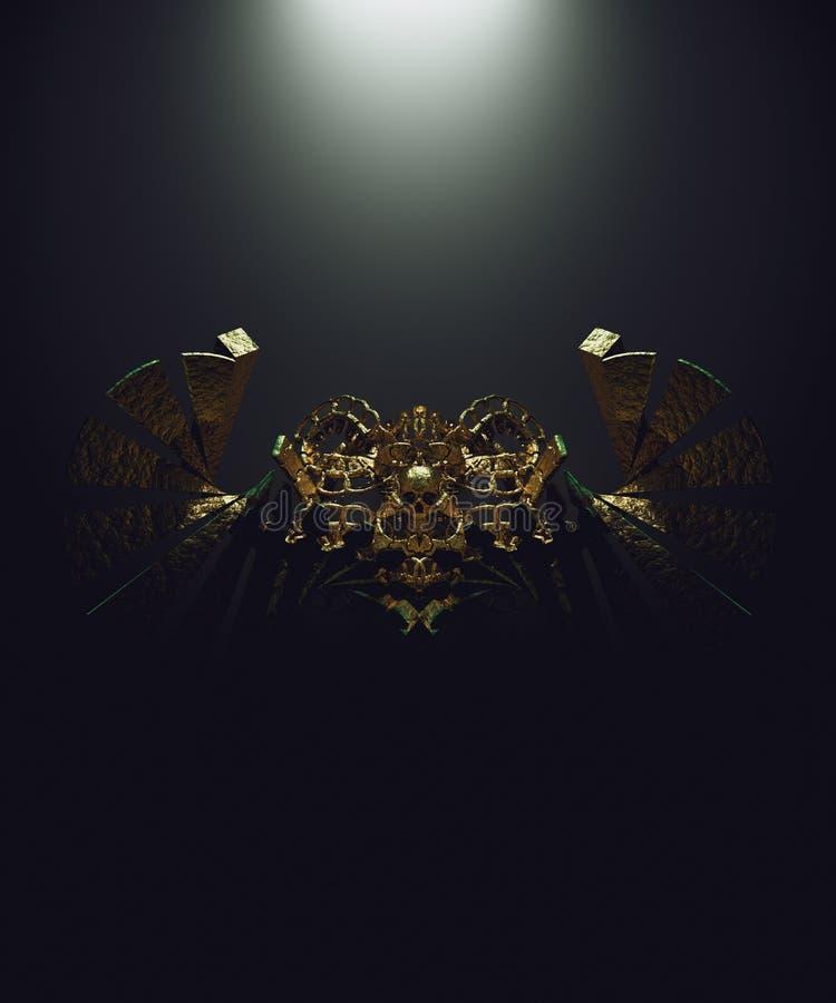 Cranio dell'oro immagine stock