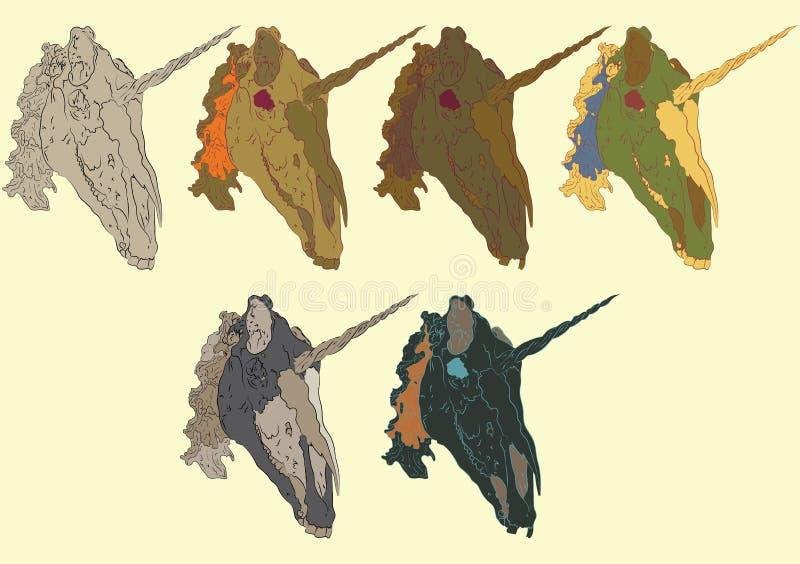 Cranio dell'unicorno immagini stock libere da diritti
