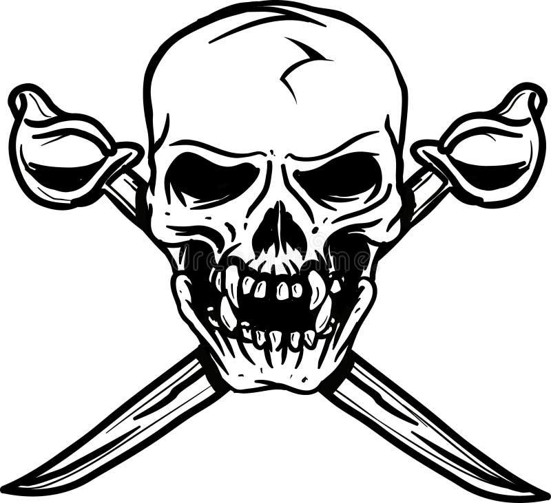 Cranio della spada immagini stock libere da diritti