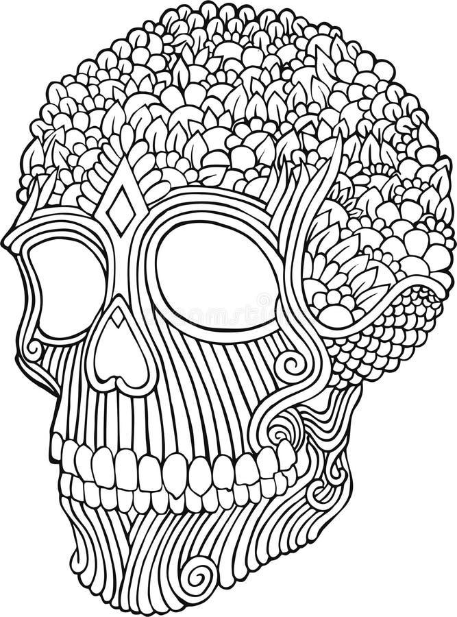 Cranio di scarabocchio immagine stock libera da diritti