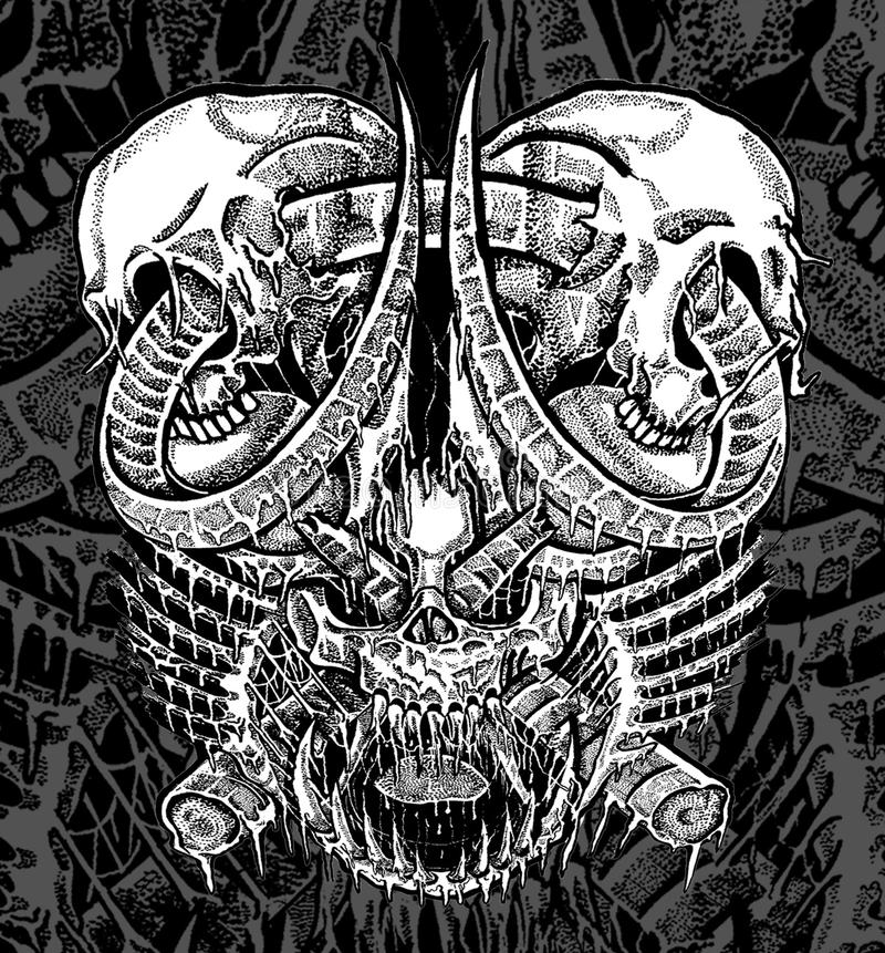 Cranio di scarabocchio fotografie stock libere da diritti