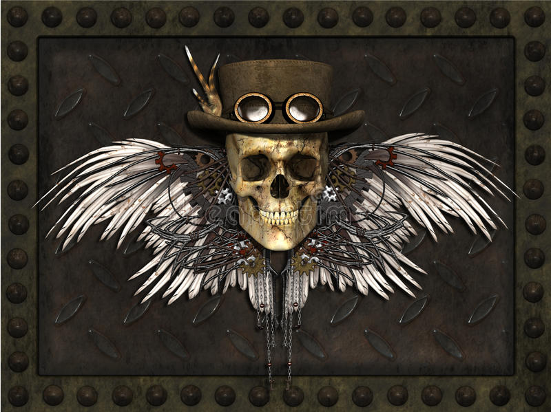 Cranio di Steampunk royalty illustrazione gratis