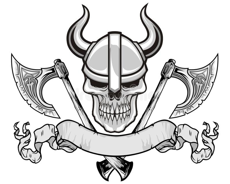 Cranio di Viking illustrazione vettoriale