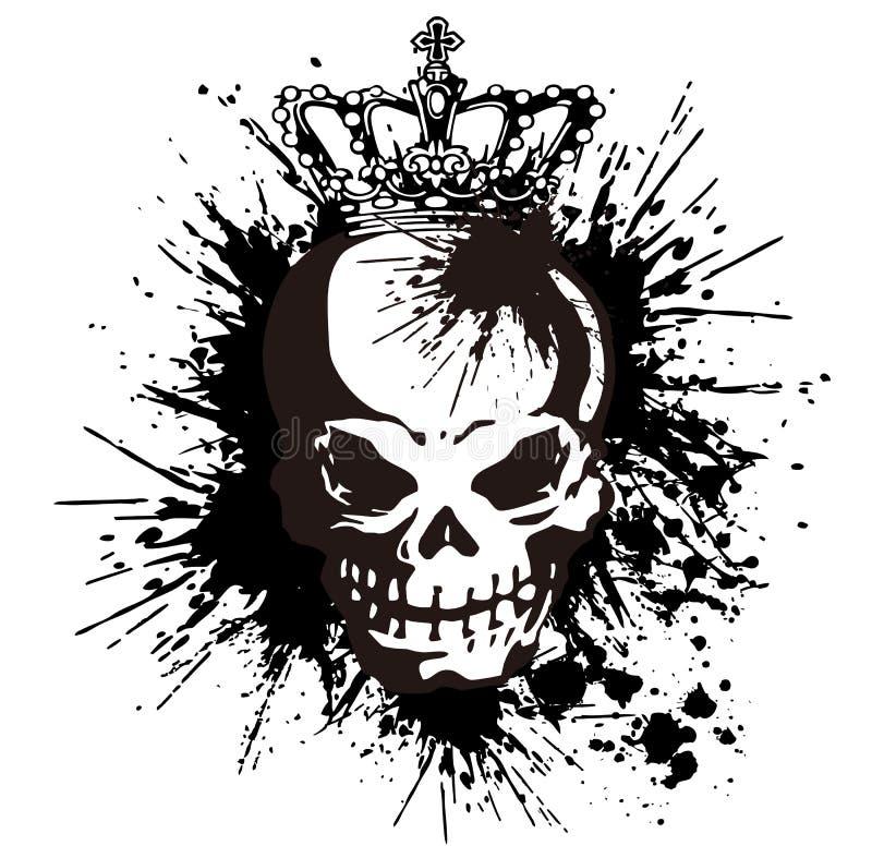 Cranio e pittura, royalty illustrazione gratis