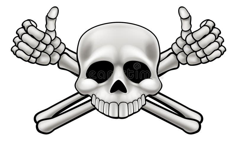 Cranio e tibie incrociate illustrazione di stock