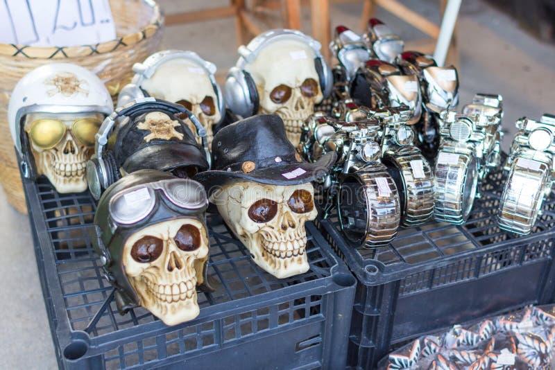 Cranio fatto a mano in un negozio di ricordo immagine stock libera da diritti