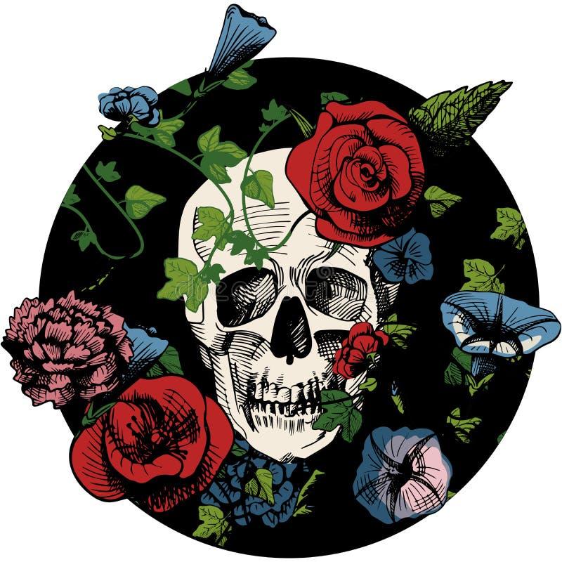 Cranio in fiori royalty illustrazione gratis