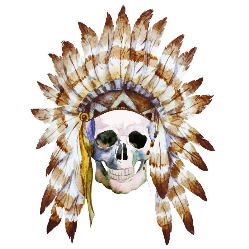 Cranio indigeno illustrazione vettoriale