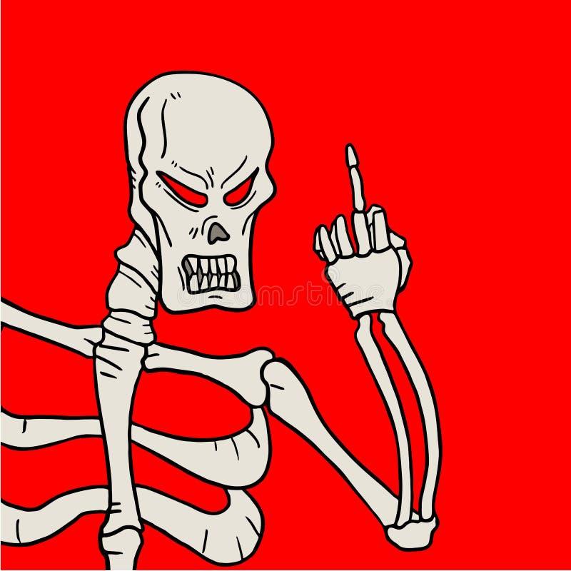 Cranio ribelle illustrazione di stock