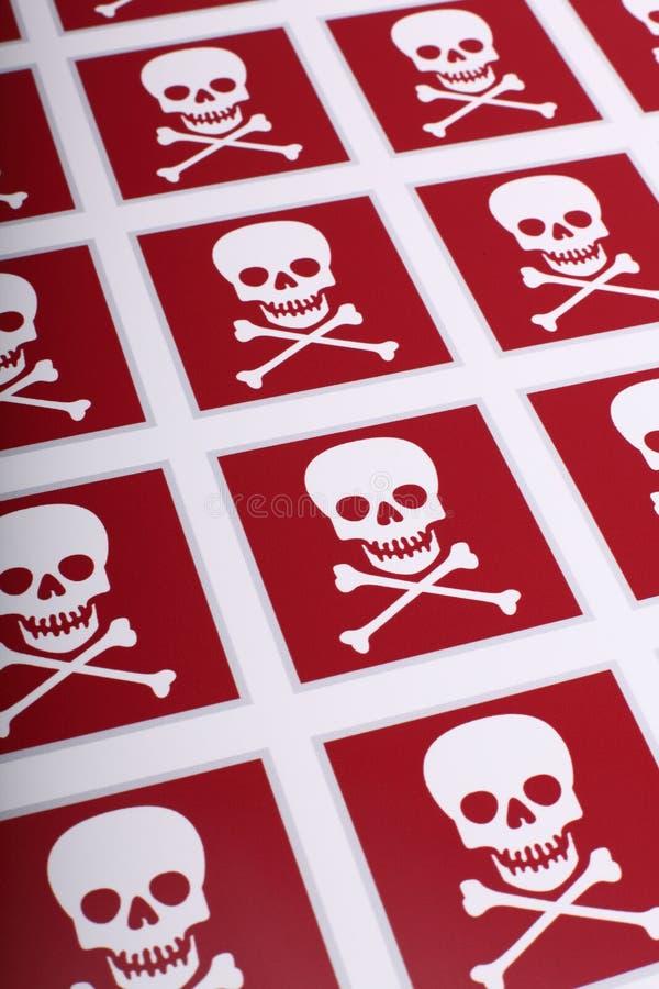 Cranio rosso fotografie stock