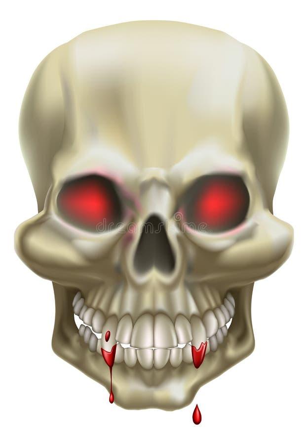 Cranio rosso dell'occhio illustrazione vettoriale