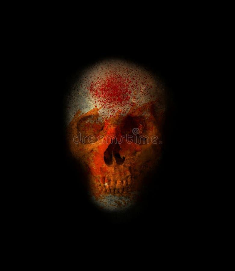 Cranio spaventoso 2 illustrazione di stock
