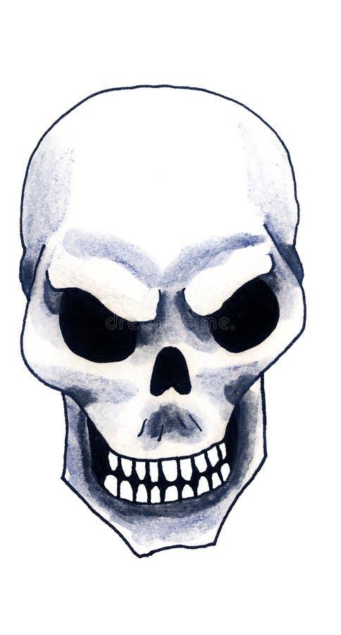 Cranio spaventoso del pirata dell'acquerello illustrazione vettoriale
